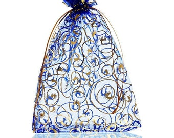 25 bags Organza gift jewelry wedding party 13.5x19.5 cm sleeves