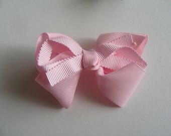 fancy Ribbon hair clip bow applique pink 9 * 6 cm