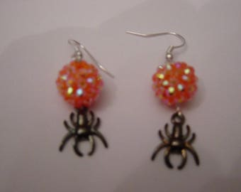 Halloween spider and Disco earrings
