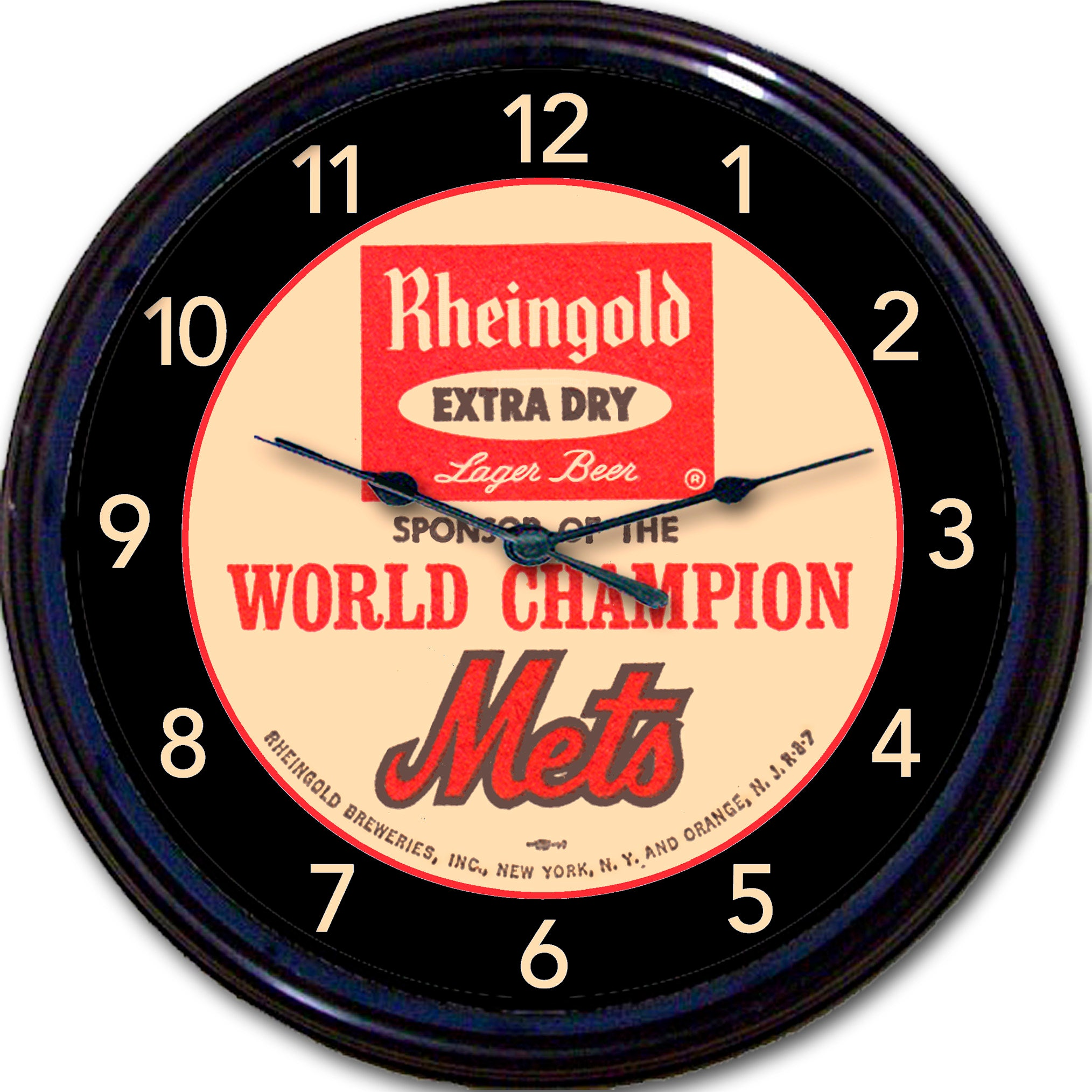 Ny mets beer rheingold coaster wall clock rheingold beer zoom amipublicfo Image collections