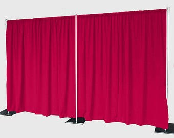 5feet x 8feet FUCHSIA Polyester Fabric Backdrop Background Drapes for Pipe and Drape