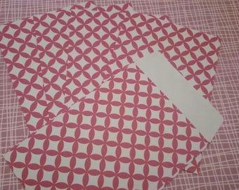 SET of 5 envelopes pattern Fuchsia 11.4 x 16.2 cm SCRAPBOOKING