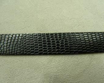 Leatherette Ribbon - 1.5 cm-way Black Snake