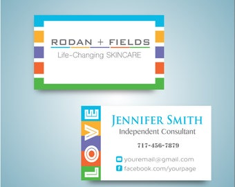 Rodan and Fields Business Card, Custom Rodan and Fields Card, Printable Digital file, Custom Business Card 0073