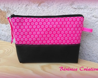 """Small flat pouch """"joyful color"""" pink"""