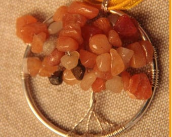 tree of life in semi precious stones