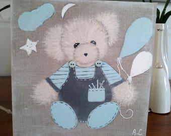 Tableau made bear for little boy's room