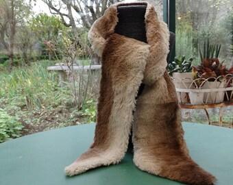 Vintage fur stole. Vintage fur stole. antique fur stole. art deco fur. downton abbey fashion. fur collar.