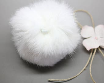 Beautiful tassel Angora 8cm-white SC0080829 - sewing - jewelry