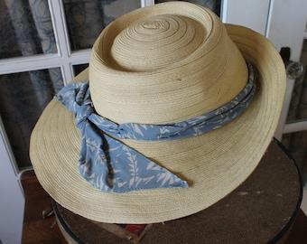 1960's Straw Sun Hat