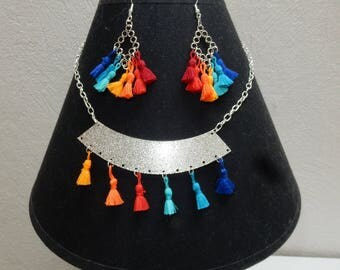 "Set multicolored collection ""tassels flat"""