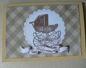 birth or congratulations vintage scrapbooking card
