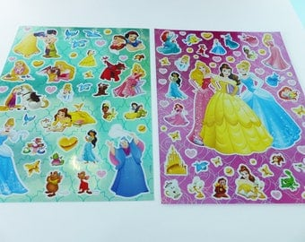 2 sheets stickers stickers Disney princesses