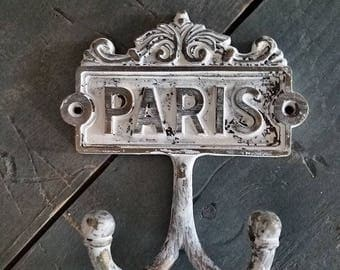 ON SALE Paris Hook/French/French Hook/French Country Decor/Nursery Decor/Shabby Chic/Coat Hook/ Wall Hook/Unique Home Decor