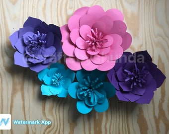 5pc paper flower set