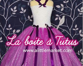 2 3 4 5 6 ☆ ☆ little Princess tutu dress girl ☆ purple lavender purple Tulle flower glitter Christmas