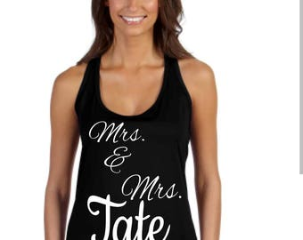 Customized Mrs and Mrs Ts