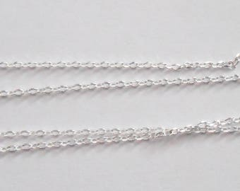 Thin chain in 925 sterling silver links of 0.8 mm sold by the cm. (9261347)