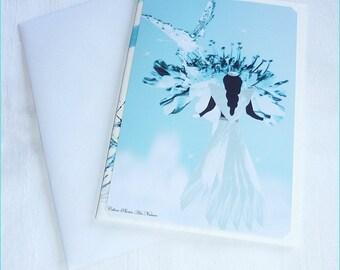 """Carte double """"Féérie de la nature"""" réalisée à partir de photos de fleurs de Céline Photos Art Nature"""