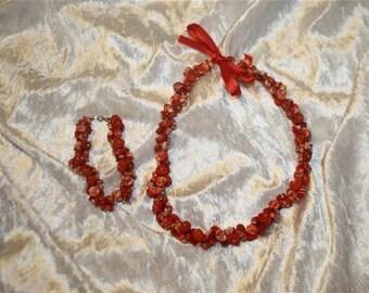 Necklace polymer clay bracelet