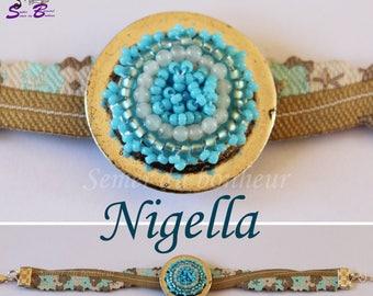 "Amazonite beaded ""Nigella"" bracelet"