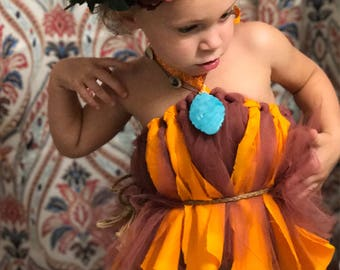 Moana inspired toddler costume 2T-4T