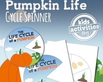 Pumpkin Life Cycle Spinner STEM Printable Activity for Kids