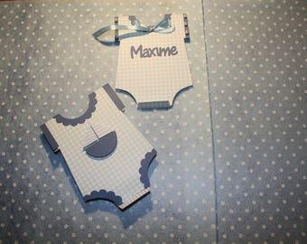 Birth announcement invitation anniversire or boy personalized Bodysuit size