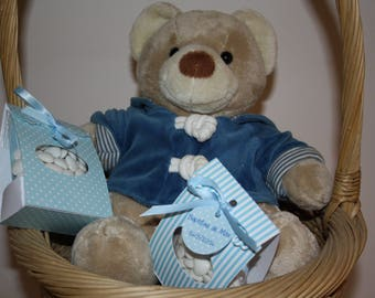 Containing sweets customizable for baptism, birthday or baby boy birth