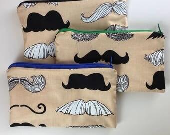Mustache Waterproof Washable Reusable Snack Bag