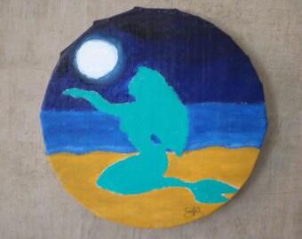 """""""Singing in the Moonlight"""" Mermaid painting"""