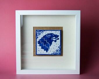 House Stark tile with frame
