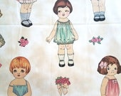 Vintage Toddler/Doll Pink Cotton Fabric Large Scale