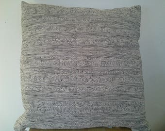 Heather gray pillow cover
