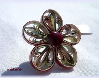 unique ring made of paper, varnish