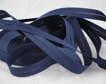 Navy blue cotton bias