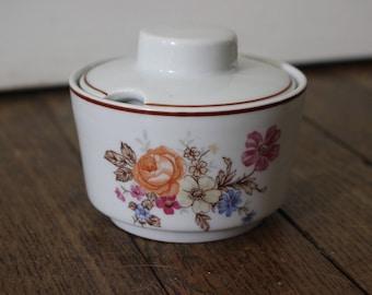 Vintage mustard pot, Lubiana Poland porcelaine