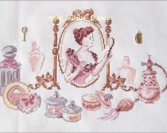 "Embroidery cross stitch ""Toilet"" - v pattern - custom"