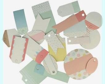 Embellishments - Die cut - Artemio - shape and color - 21 pcs labels.
