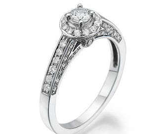 Engagement Ring, 14K - 18K + Diamonds