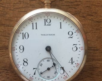 Waltham 14k solid  gold vintage pocket watch