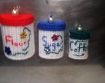 Canister Set of 3 - Kitchen Magnets
