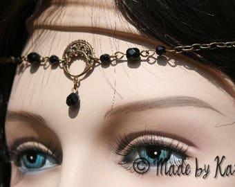 Tiara Crown tiara Moon Black necklace