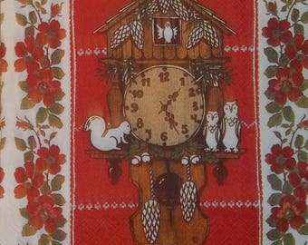 Napkin COLLECTION the owls and the owls 207 size 33 X 33