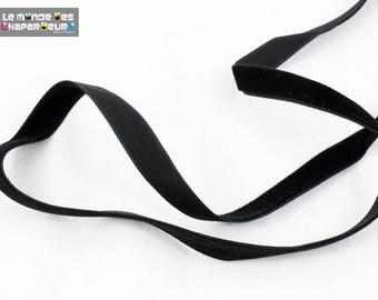 Plain black 10 mm the meter velvet Ribbon