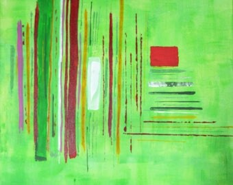 SOLD - Fantasy - abstract painting 61 x 50 cm