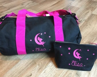 Entire bag and toiletry bag personalized name