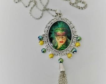 one necklace with its new Venetian mask