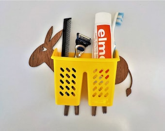 Funny Organizer on the wall - donkey with baskets for different things