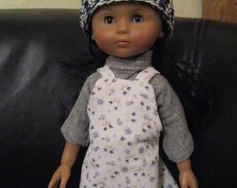 garment 33 cm doll honey Corolla dress overalls, tee shirt, hat and jacket